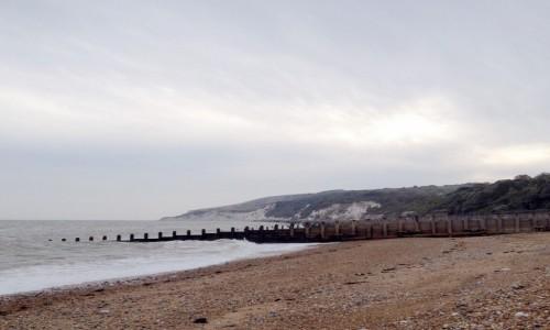 Zdjecie ANGLIA / Nad kana�em La Manche / Eastbourne / Pla�a w pochmur