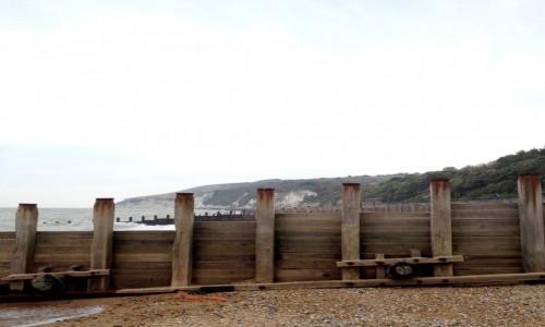 Zdjecie ANGLIA / Nad kana�em La Manche / Eastbourne / Falochrony