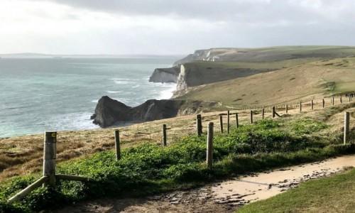 Zdjecie ANGLIA / Lulworth cove / Durdle / Klify od strony kanału  La Manche