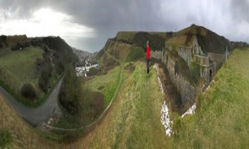 Zdjecie ANGLIA / Weymouth / Portland / Verne Twierdza, z miastem po lewej w dole