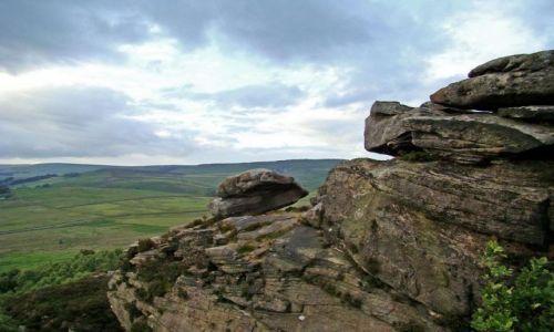 Zdjęcie ANGLIA / Derbyshire / Peak District / formy skalne