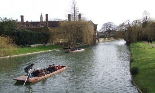 Zdjecie ANGLIA / Anglia / Cambridge / łódeczki