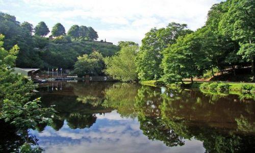 Zdjęcie ANGLIA / North Yorkshire / Knaresborough / otoczenie zamku Knaresborough