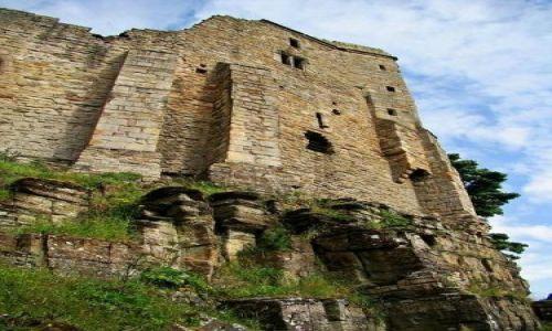 Zdjęcie ANGLIA / North Yorkshire / Bernard Castle / ruiny zamku - Bernard  Castle