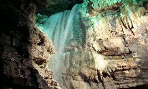 Zdjęcie ANGLIA / North Yorkshire  Dales / White Scar Cave / jaskinia   White Scar Cave