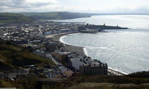 Zdjecie ANGLIA / brak / Aberystwyth / widok na miasto