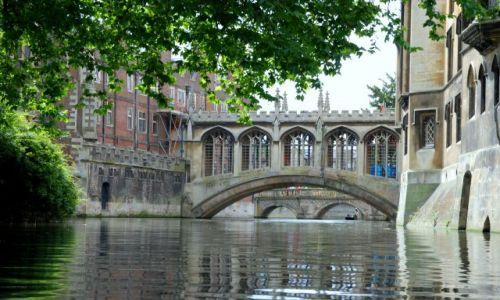 Zdjecie ANGLIA / brak / Cambridge / Most westchnień na rzece Cam