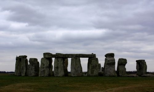 Zdjecie ANGLIA / Hrabstwo Wiltshire, południowa  Anglia / Stonehenge / Stonehenge w lutym