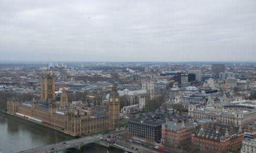 Zdjecie ANGLIA / Londyn / Londyn / Widok z oka Londynu London Eye