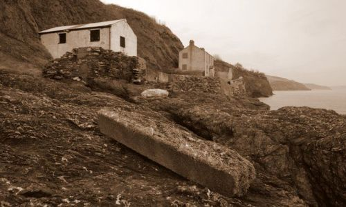 Zdjecie ANGLIA / Devon / Hallsands / Pozostalosci po wiosce Hallsands