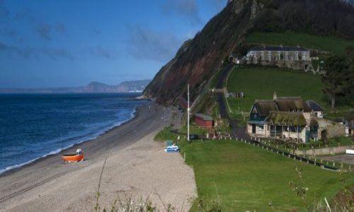 Zdjęcie ANGLIA / Devon / Branscombe / Restauracja nad brzegiem...