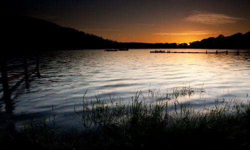 Zdjęcie ANGLIA / Lake District / w poblizu Keswick / Zachod slonca nad jeziorem Bassenthwaite