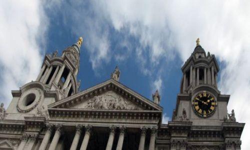 Zdjecie ANGLIA / Londyn / Katedra św. Pawła / Wejście do katedry św. Pawła