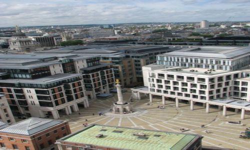 Zdjecie ANGLIA / Londyn / Paternoster Square / Widok z wieży katedry św. Pawła na Paternoster Square