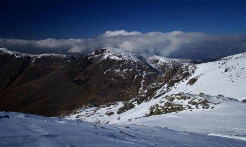Zdjęcie ANGLIA / Lake District / widok z  podejscia na Scafell Pike / Great Gable