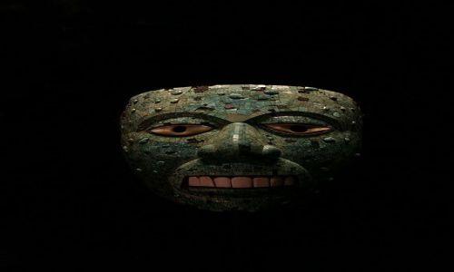 ANGLIA / Londyn / British Museum / Meksykańska maska z British Muzeum