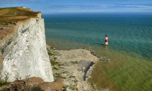Zdjęcie ANGLIA / East Sussex / Eastbourne / Latarnia Beahy Head