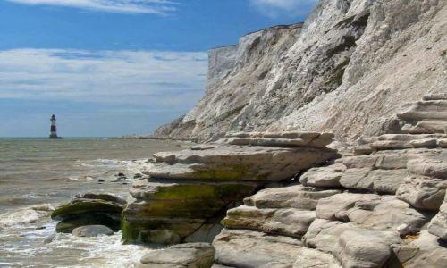 Zdjęcie ANGLIA / East Sussex / Eastbourne / Beachy Head widok z plaży