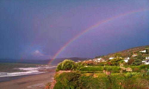 Zdjęcie ANGLIA / Cornwall / Downderry / Tęcza