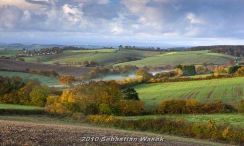 Zdjęcie ANGLIA / Devon / Krajobraz w poblizu miasta Exeter / Poranek