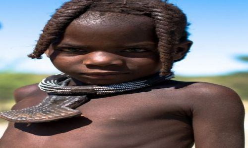 ANGOLA / Prowinca Kunene / Południowa Angola / Syn Wodza
