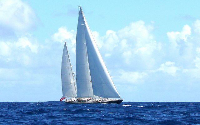 Zdjęcia: Morze Karaibskie, Pasaż pomiędzy Antiguą i Gwadelupą, Spotkanie w drodze, ANTIGUA I BARBUDA