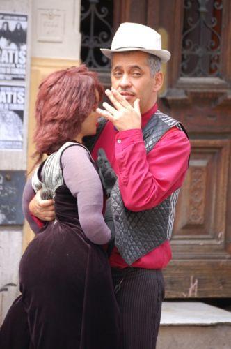 Zdjęcia: Buenos Aires, Dzielnica San Telmo, Para tancerzy:), ARGENTYNA