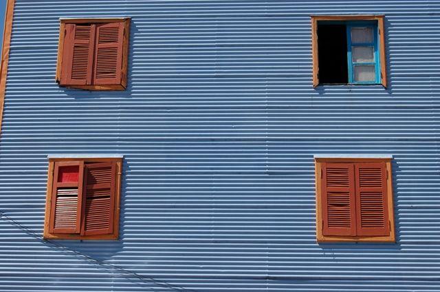 Zdjęcia: Buenos Aires, Dzielnica La Boca, Okna, ARGENTYNA