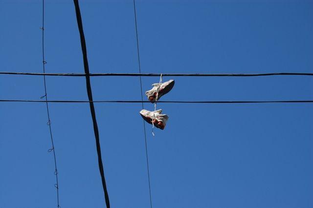 Zdjęcia: Buenos Aires, Dzielnica La Boca, Buty na drucie, ARGENTYNA