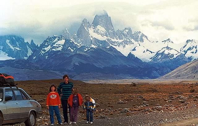Zdjęcia: droga z Chalten do Tres Lagos, Patagonia, powrot spod Fitz Roya, ARGENTYNA