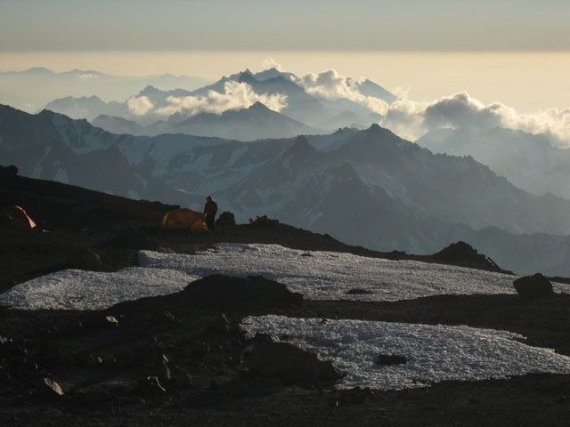 Zdjęcia: Aconcagua, Aconcagua, Nocleg na Nido de Condores 5500m, ARGENTYNA