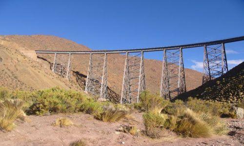 Zdjęcie ARGENTYNA / Salta / La Polvorilla / Wiadukt 4220 m npm