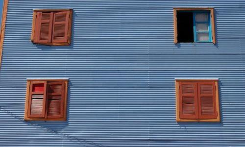 Zdjęcie ARGENTYNA / Dzielnica La Boca / Buenos Aires / Okna