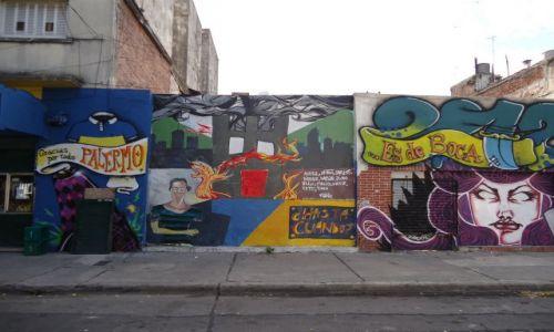 Zdjęcie ARGENTYNA / Buenos Aires / Dzielnica La Boca / Murale