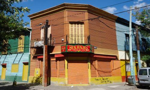 Zdjęcie ARGENTYNA / Buenos Aires / Dzielnica La Boca / Kolorowe domy