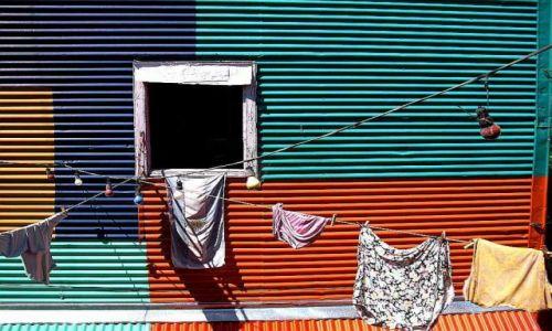 Zdjecie ARGENTYNA / Buenos Aires / La Boca / kolorowa la boca