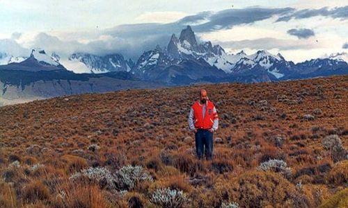 Zdjęcie ARGENTYNA / Patagonia / gdzies po drodze / na tle masywu  Fitz Roya
