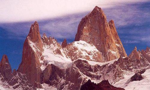 Zdjecie ARGENTYNA / Patagonia / widok znad laguny los Tres / portret Fitz Roya