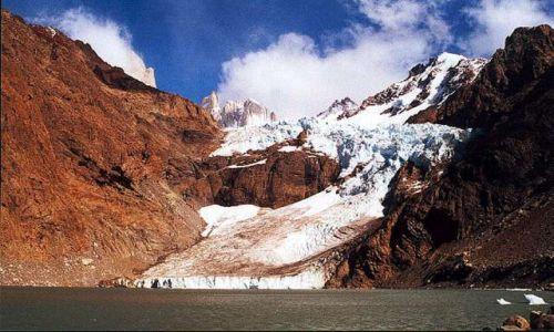 Zdjecie ARGENTYNA / Patagonia / laguna Bialych Kamieni (Piedras Blancas) / lodowczyk