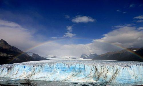 Zdjecie ARGENTYNA / Patagonia / El Calafate / Perito Moreno i tęcza