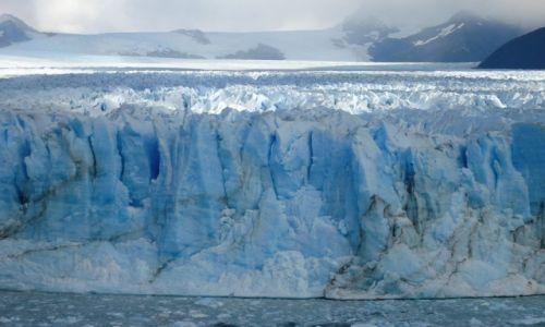 Zdjecie ARGENTYNA / Santa Cruz (Patagonia) / PN Los Glaciares (cz. południowa) / Lodowa ścianka