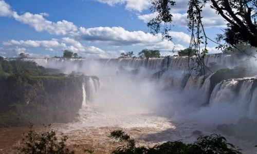 Zdjecie ARGENTYNA / Puerto Iguazu / PN Wodospadów Iguazu / W kipiącym kręgu