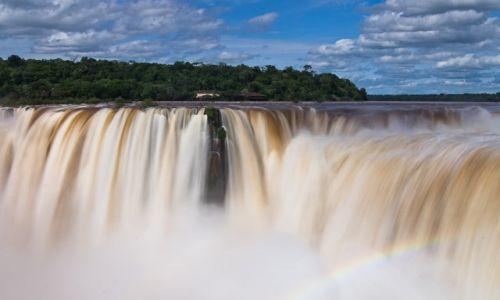 Zdjecie ARGENTYNA / Puerto Iguazu / PN Wodospadów Iguazu / W diabelskiej gardzieli