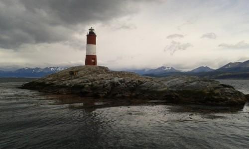 Zdjecie ARGENTYNA / Tierra del Fuego/ Kana� Beagle / Ushuaia / latarnia Les Ec
