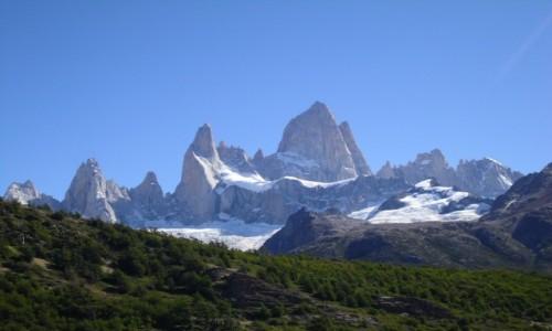 ARGENTYNA / EL CHALTEN / widok na monte Fitz Roy -najwyzszy szczyt w El Chalten / FITZ ROY