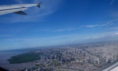 Zdjecie ARGENTYNA / Buenos Aires / Samolot :-) / Buenos z lotu p