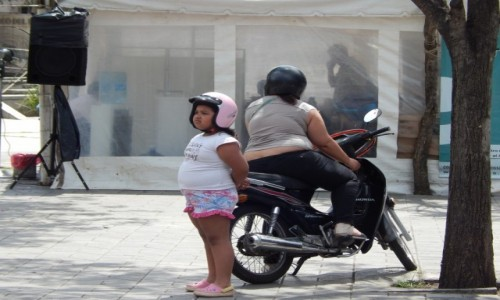 Zdjecie ARGENTYNA / Santa Fe / Rosario / Maly motocyklista