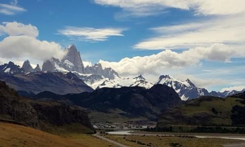 Zdjecie ARGENTYNA / Patagonia / El Chalten / Z widokiem na Fitz Roya