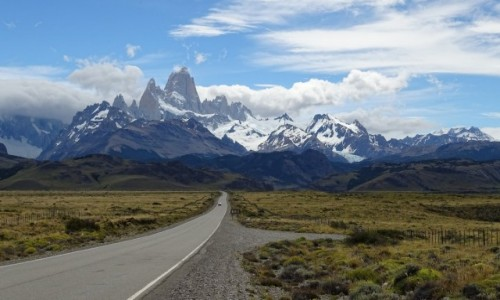 Zdjęcie ARGENTYNA / Patagonia-prowincja Santa Cruz / w drodze do El Chalten  / Patagońskie drogi