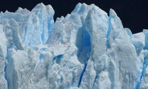 ARGENTYNA / Patagonia-Park Narodowy Los Glaciares / lodowiec Perito Moreno / Kto powiedział, że lód jest biały?